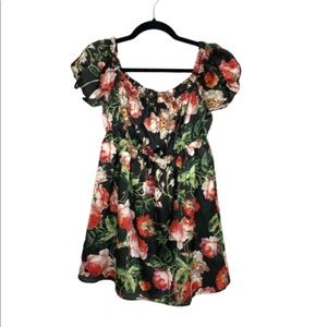 By The Way Floral Lined Mini Dress Size M - 169
